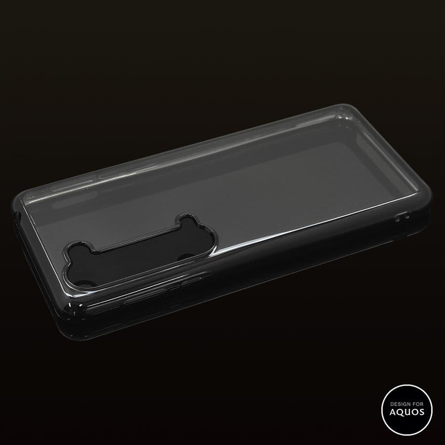 ラスタバナナ AQUOS R5G ケース カバー ソフト TPU 耐衝撃吸収 サイドメッキ メタルフレーム アクオス スマホケース 2