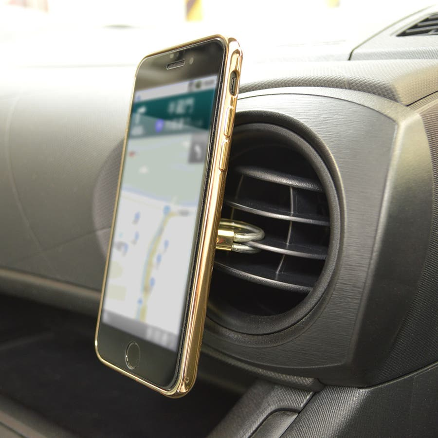 ラスタバナナ iPhone スマホ 2in1 スマホリング エアコン送風口対応 車載ホルダー 落下防止リング 視聴スタンド ブラック 4
