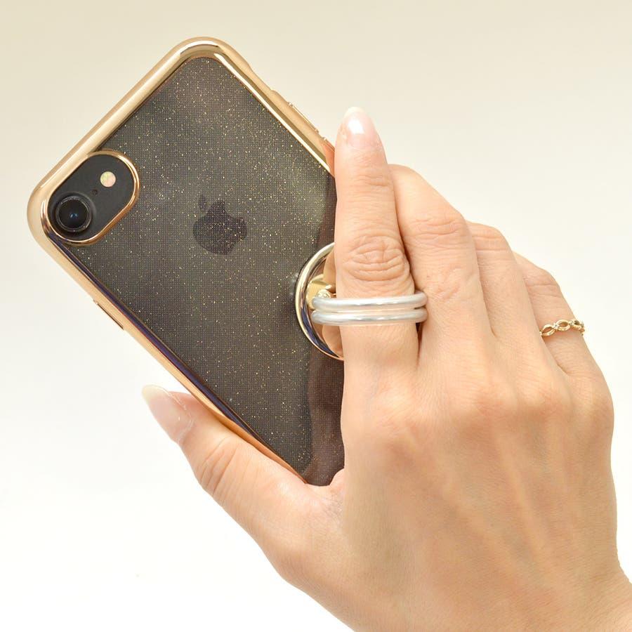 ラスタバナナ iPhone スマホ 2in1 スマホリング エアコン送風口対応 車載ホルダー 落下防止リング 視聴スタンド ブラック 7