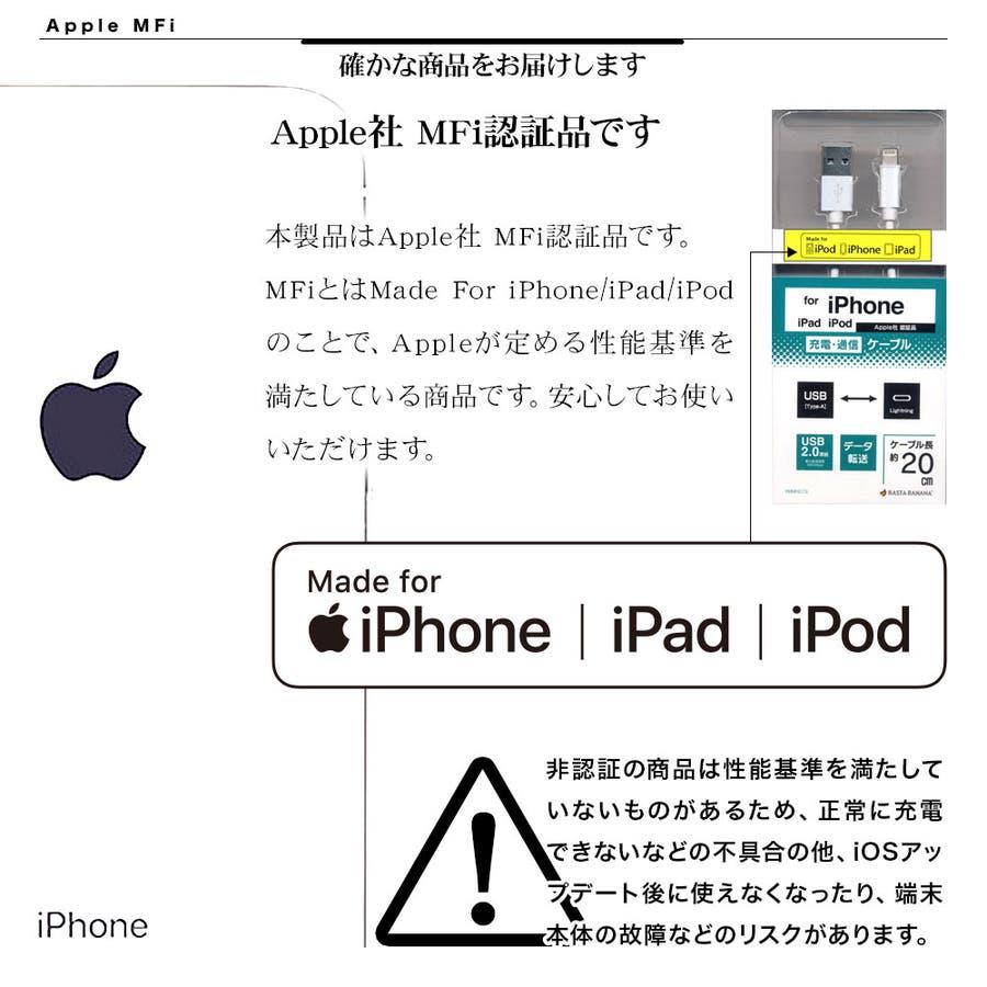 ラスタバナナ iPhone スマホ iPad タブレット マイクロUSB タイプC MFi認証 ライトニング 3コネクタ 変換付充電・通信 ケーブル 2.4A 1m Type-C microUSB 5