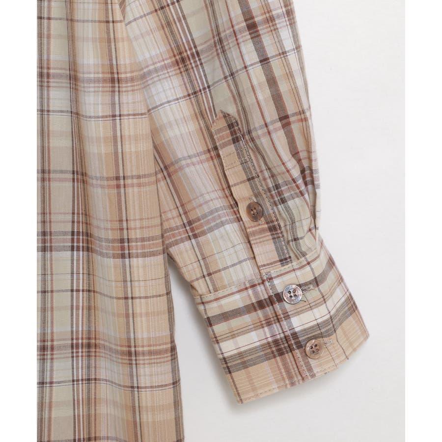 マドラスチェックシャツワンピース 10