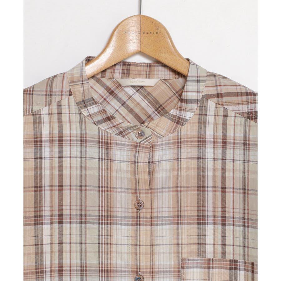 マドラスチェックシャツワンピース 7