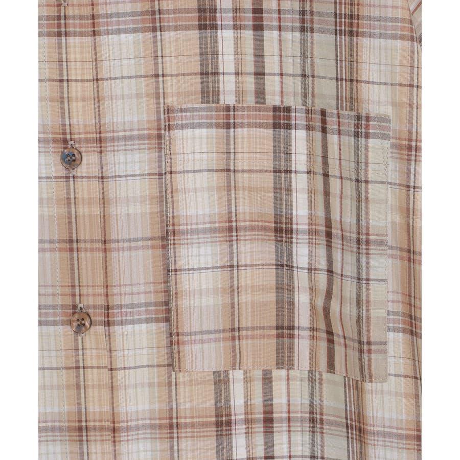 マドラスチェックシャツワンピース 9