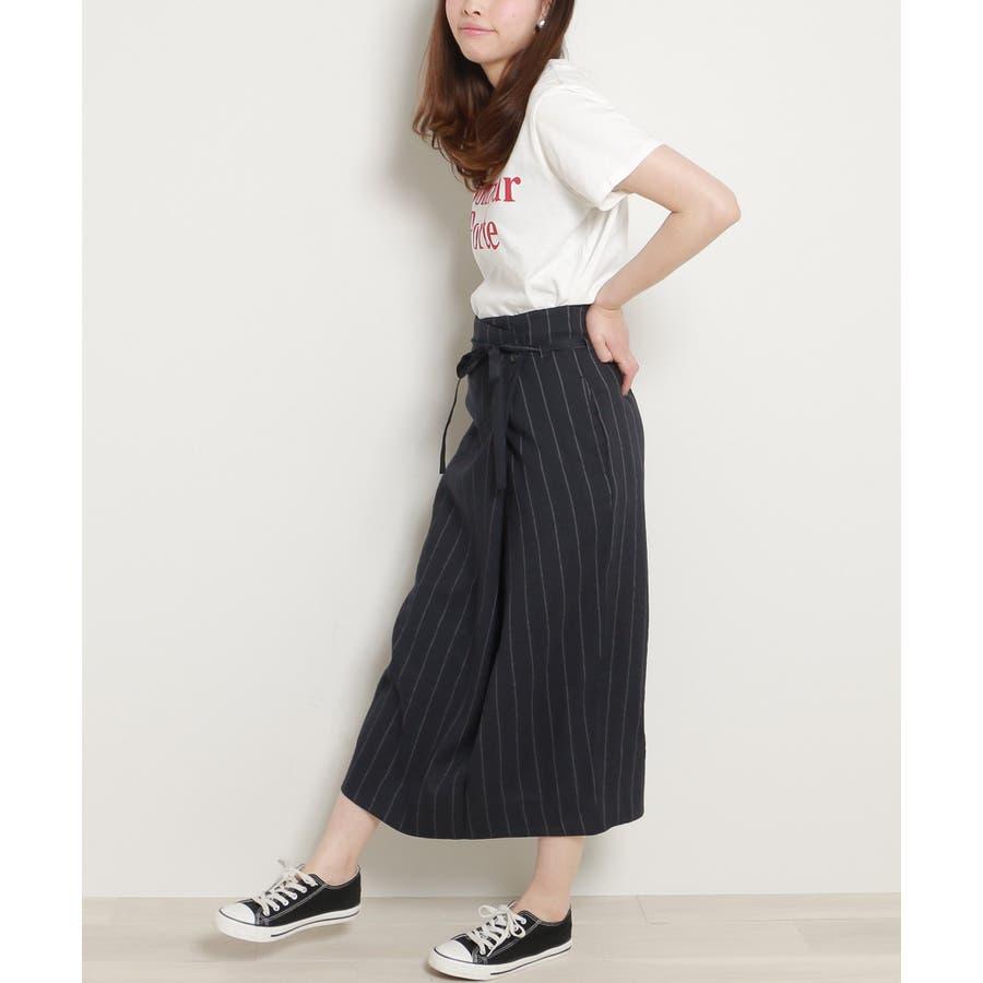 リネンラップスカート 4