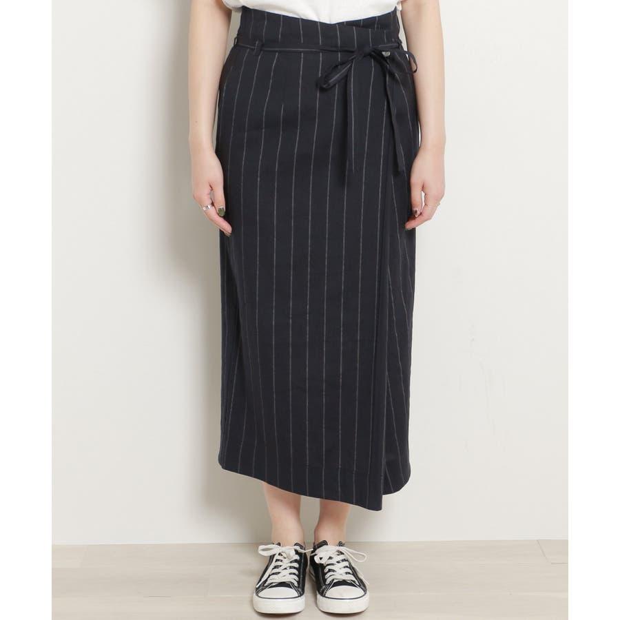 リネンラップスカート 5