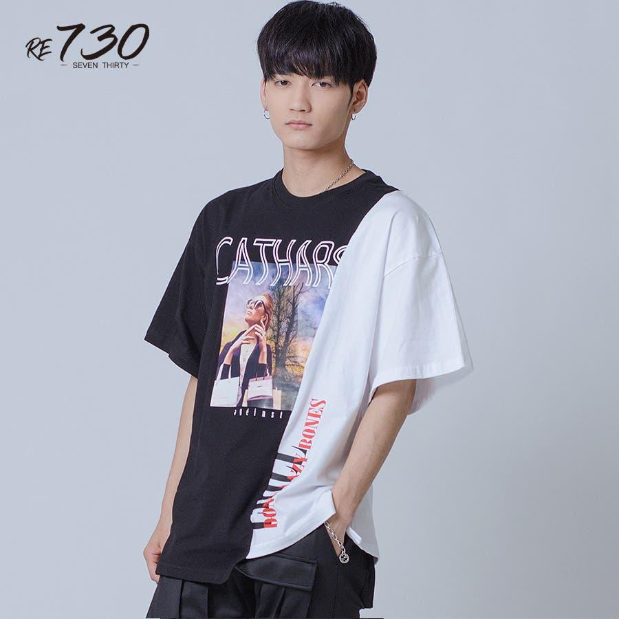 アシンメトリードッキングビッグTシャツ 22