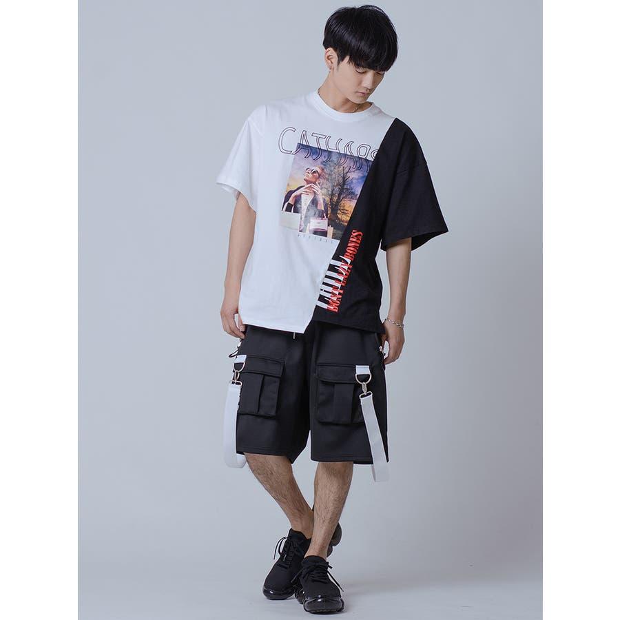アシンメトリードッキングビッグTシャツ 7