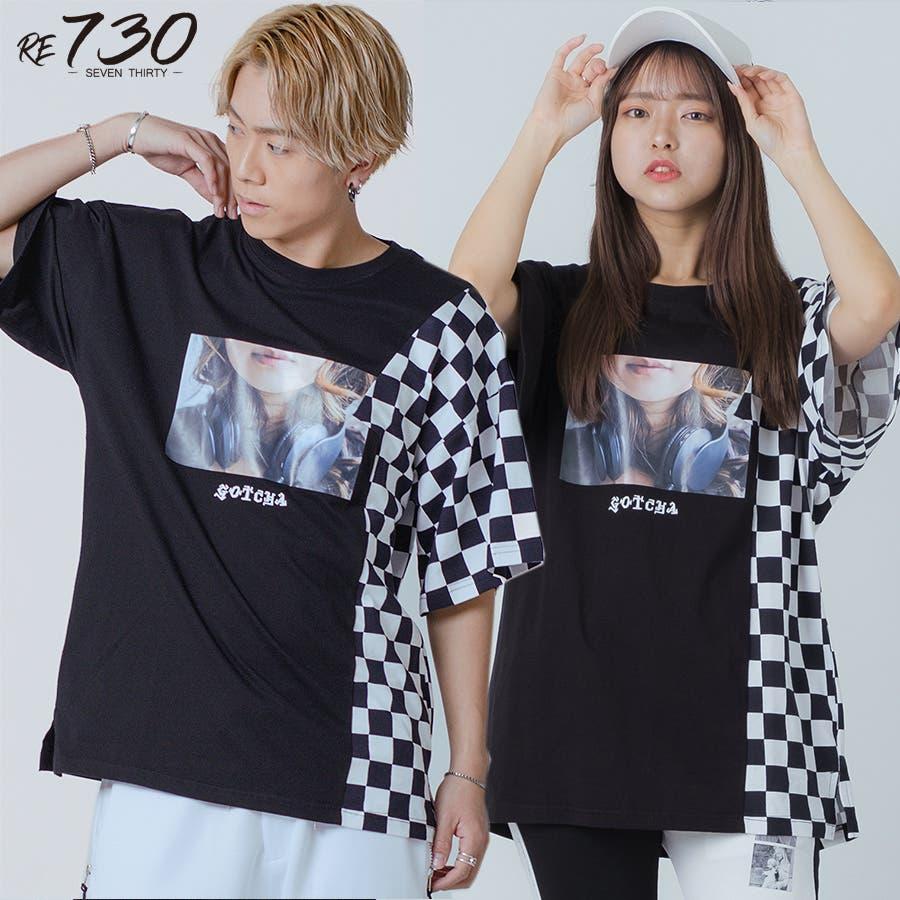 フラッグチェックビッグTシャツ 22