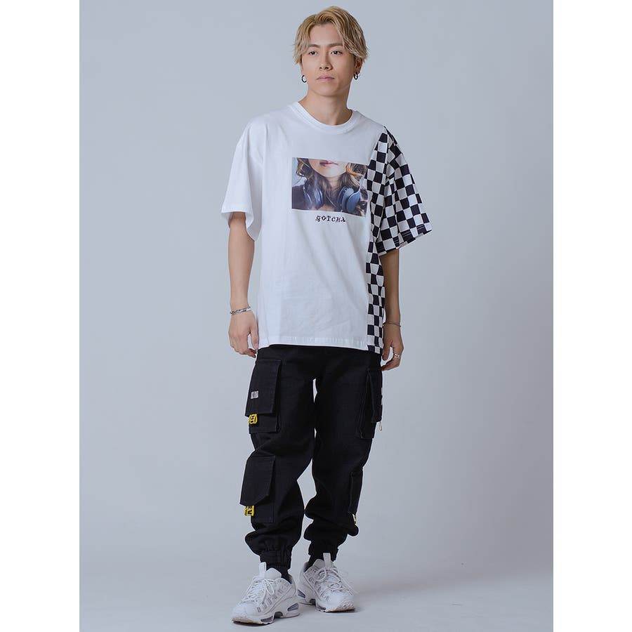 フラッグチェックビッグTシャツ 4