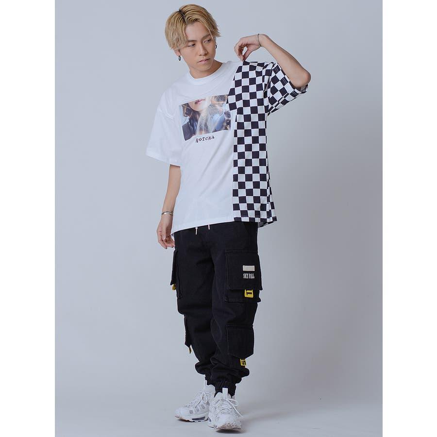 フラッグチェックビッグTシャツ 5