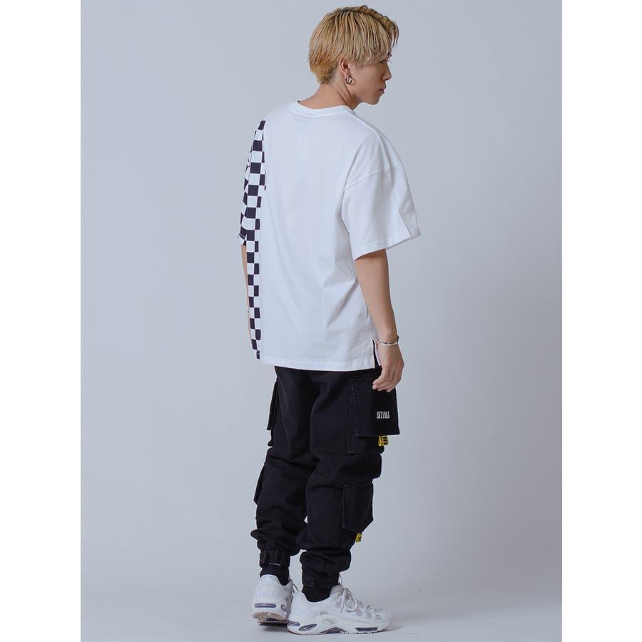 フラッグチェックビッグTシャツ 7