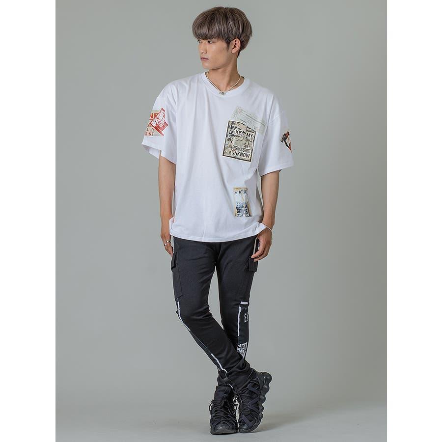 【ワッペンプリントビッグTシャツ】 4
