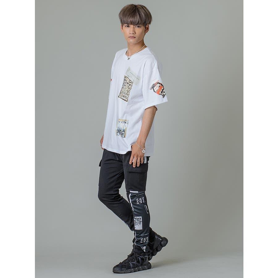 【ワッペンプリントビッグTシャツ】 5