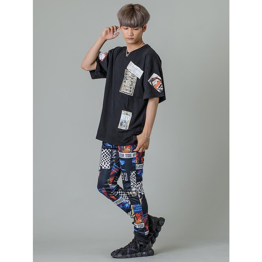 【ワッペンプリントビッグTシャツ】 10