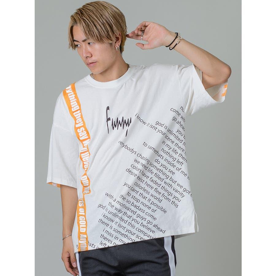 【テーププリントビッグTシャツ】 2
