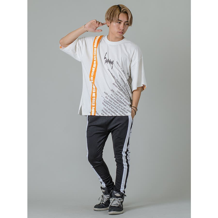 【テーププリントビッグTシャツ】 3