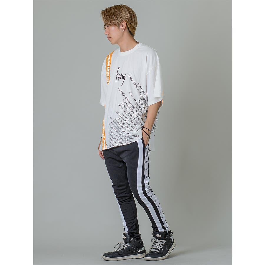 【テーププリントビッグTシャツ】 4