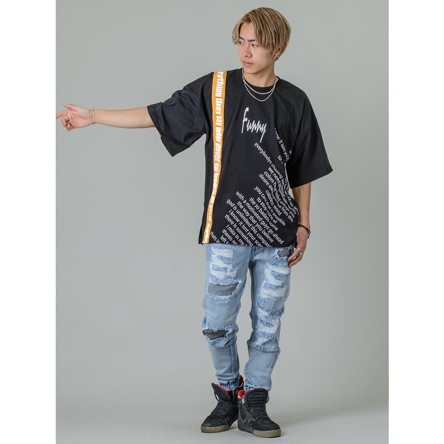 【テーププリントビッグTシャツ】 7