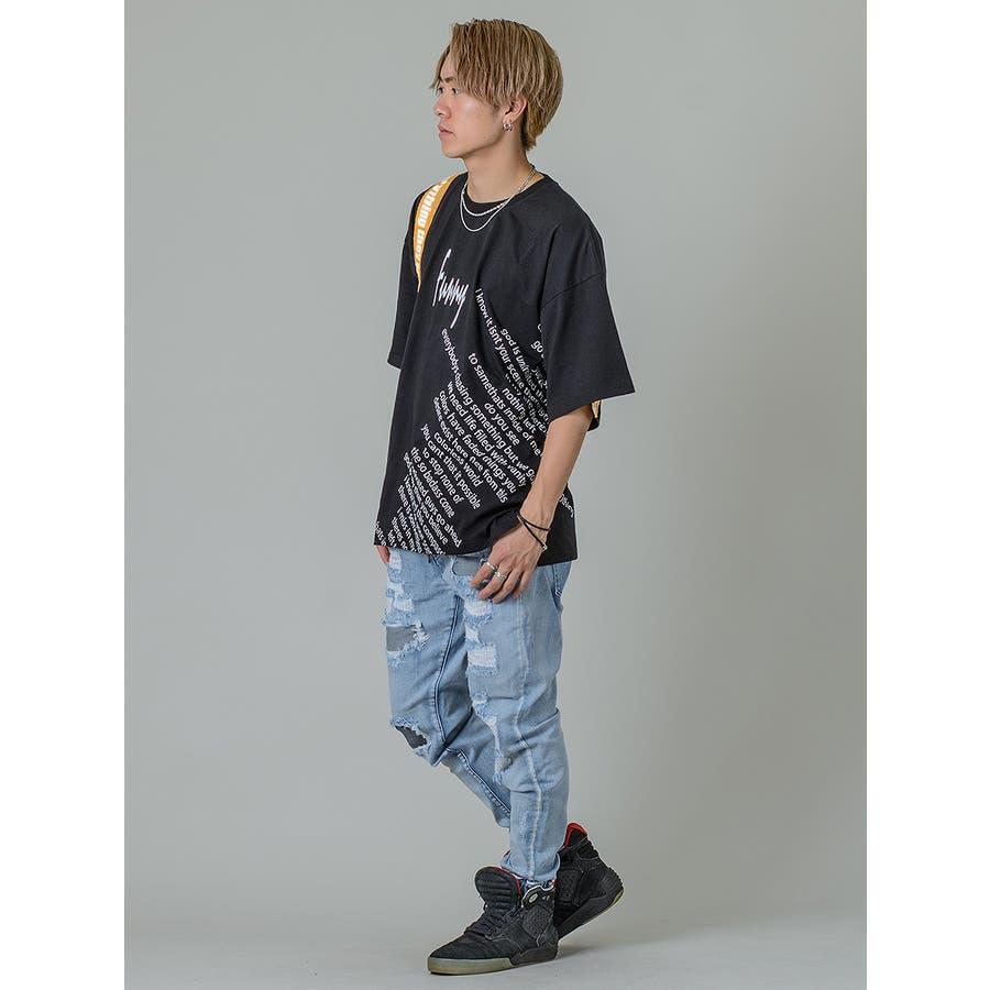 【テーププリントビッグTシャツ】 8