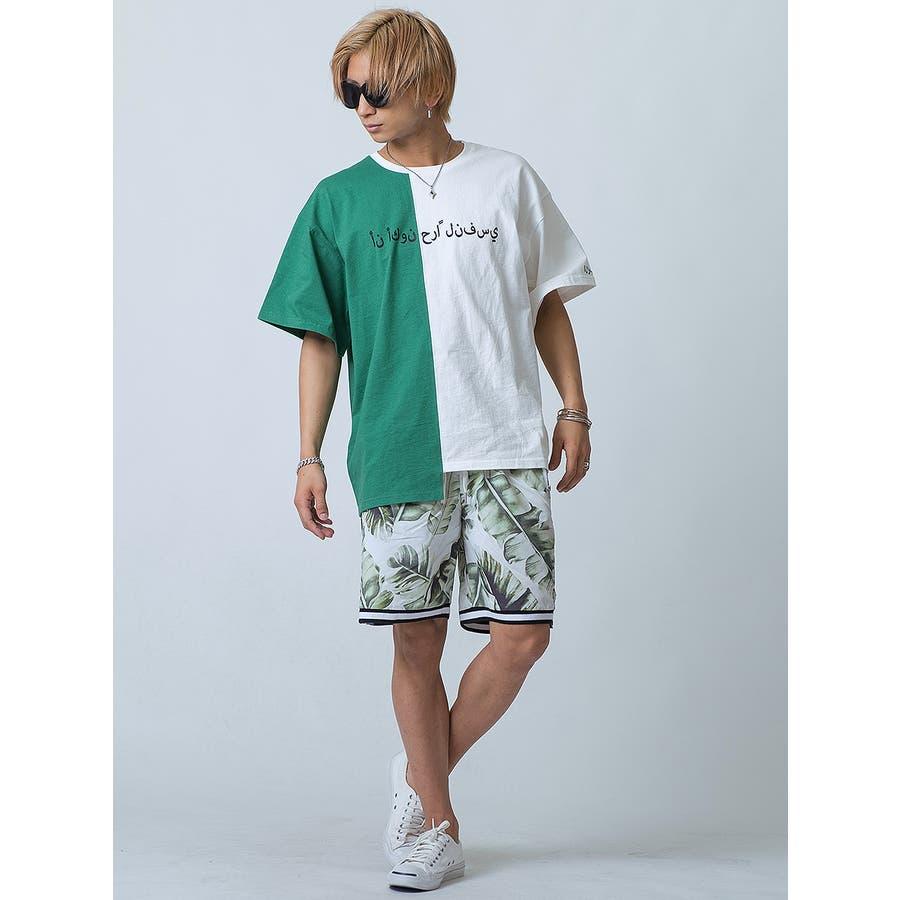 バイカラーアシンメトリーTシャツ 4