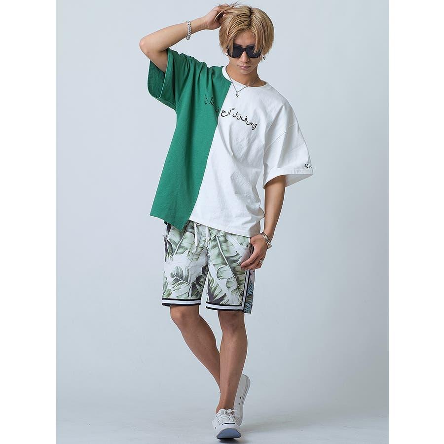バイカラーアシンメトリーTシャツ 5