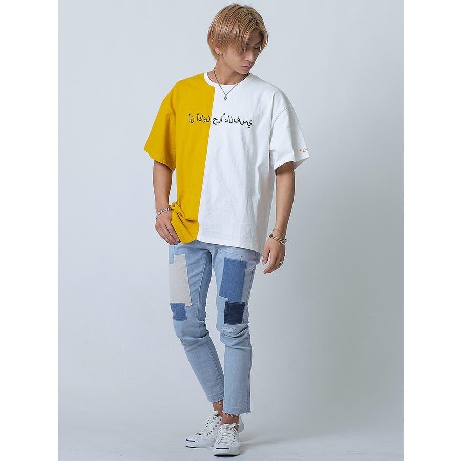 バイカラーアシンメトリーTシャツ 10