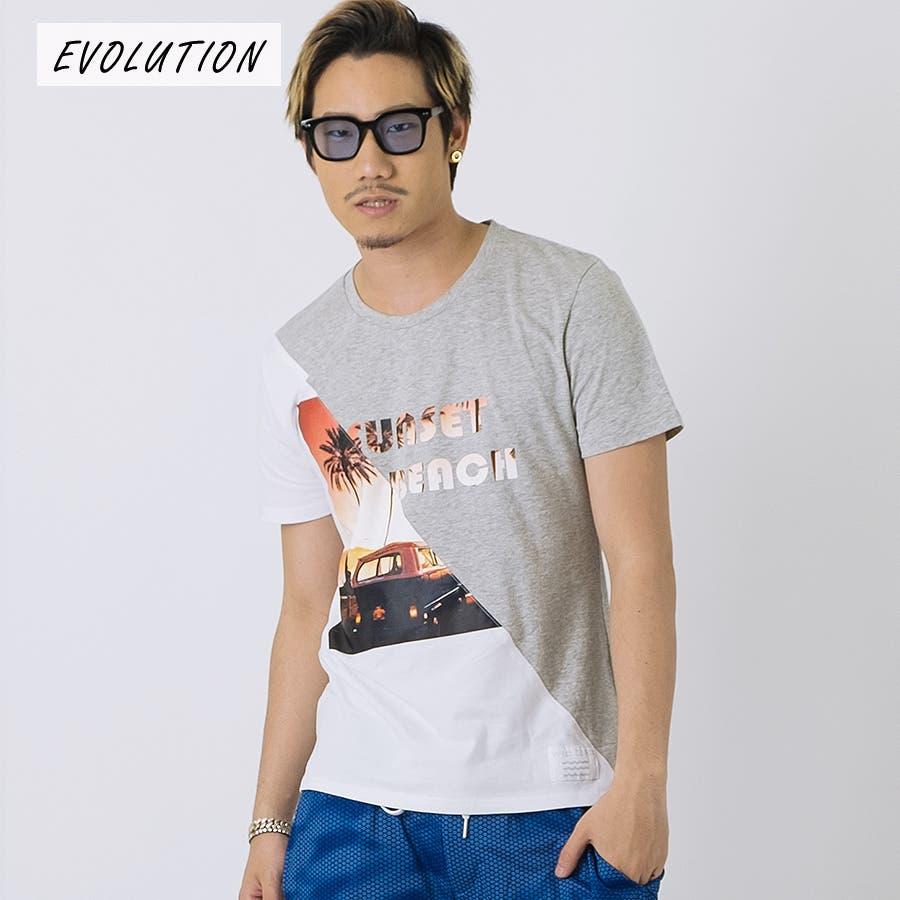 SUNSET BEACH切替Tシャツ 16