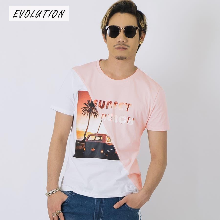 SUNSET BEACH切替Tシャツ 93
