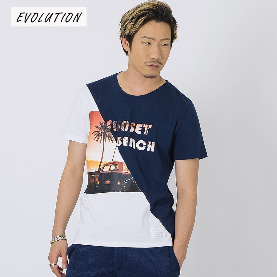 SUNSET BEACH切替Tシャツ 64