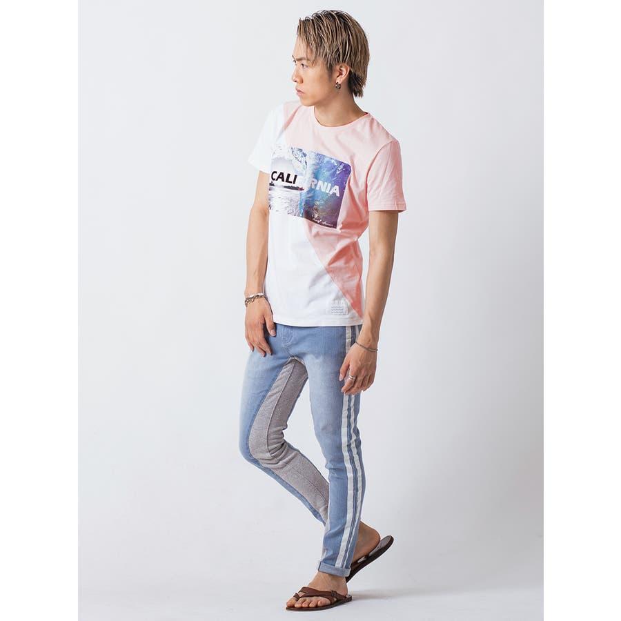フロッキープリント切替えTシャツ 10