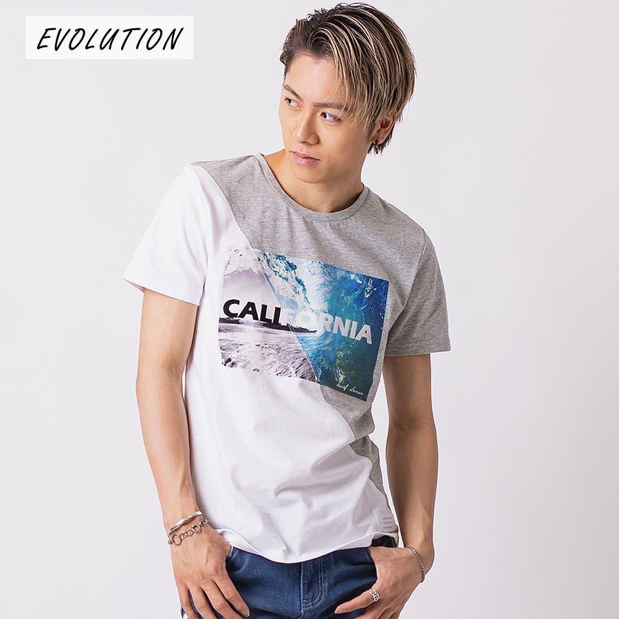 フロッキープリント切替えTシャツ 16
