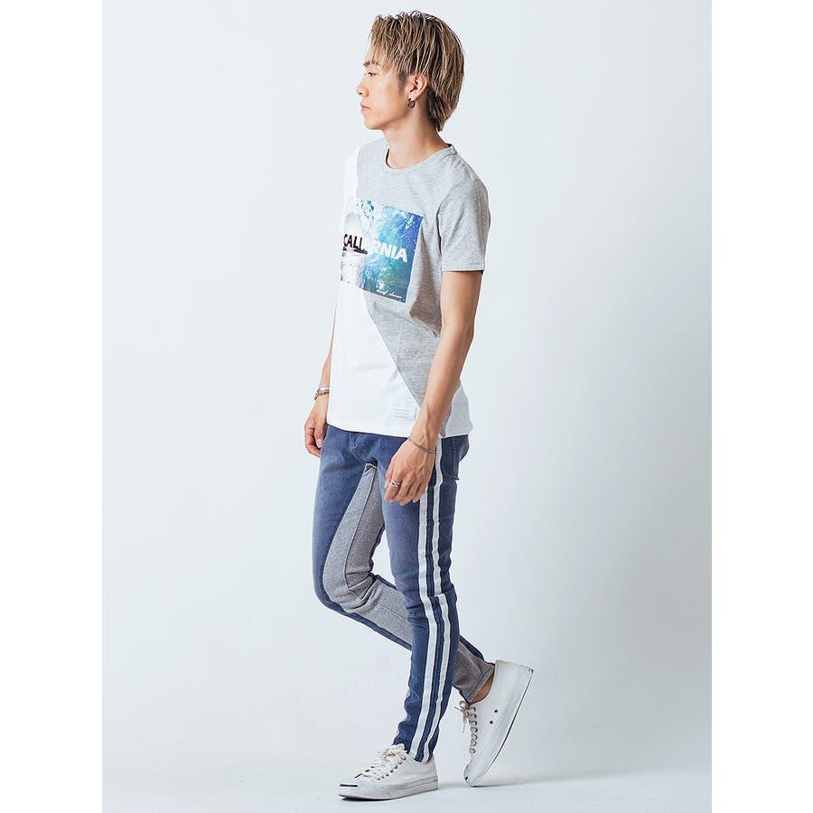 フロッキープリント切替えTシャツ 6