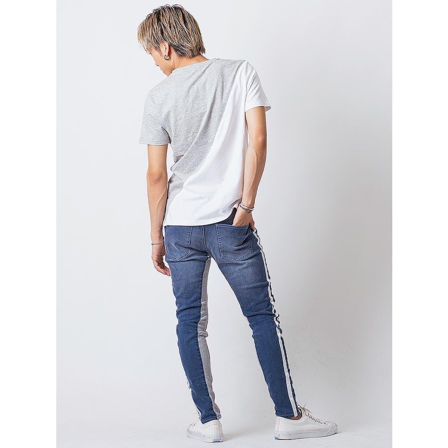 フロッキープリント切替えTシャツ 7