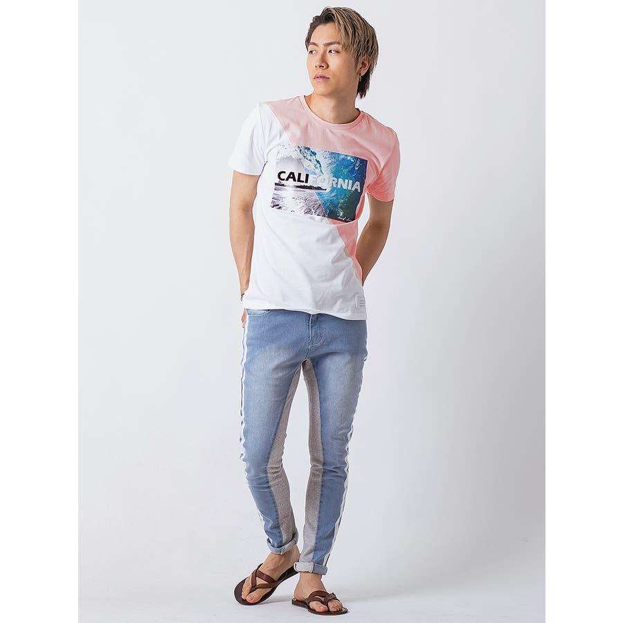 フロッキープリント切替えTシャツ 9