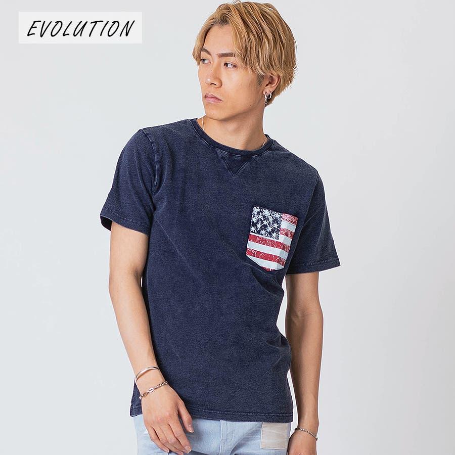 インディゴ染ポケ付きTシャツ 71