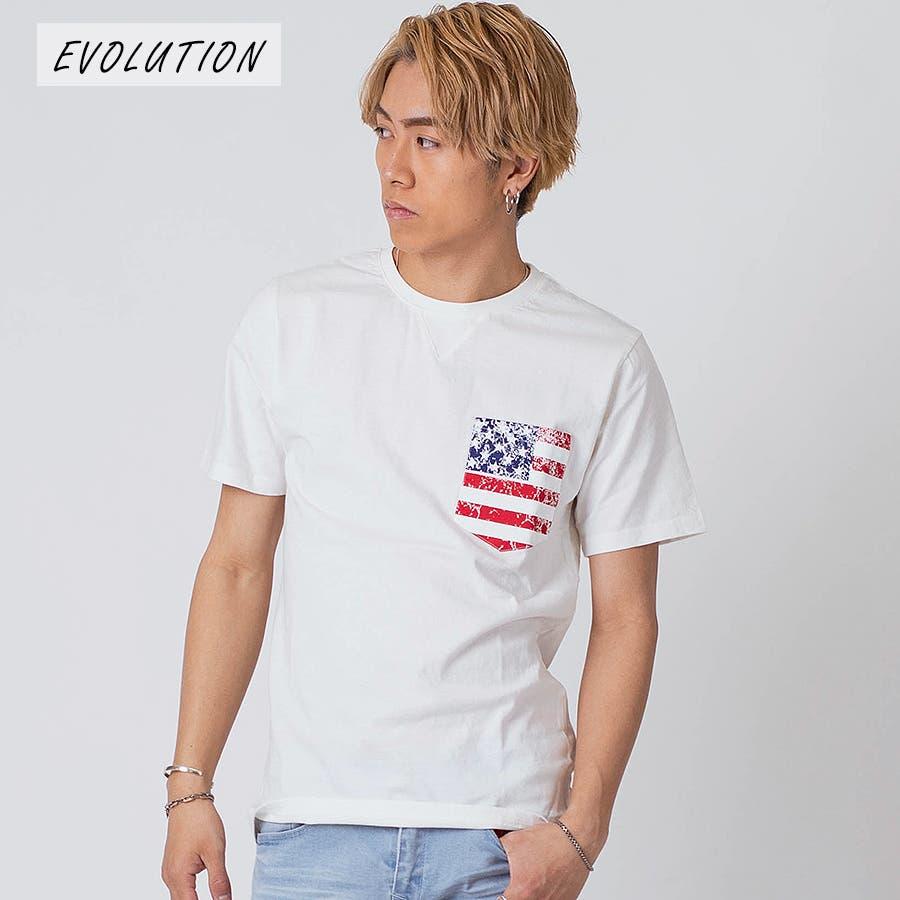 インディゴ染ポケ付きTシャツ 16