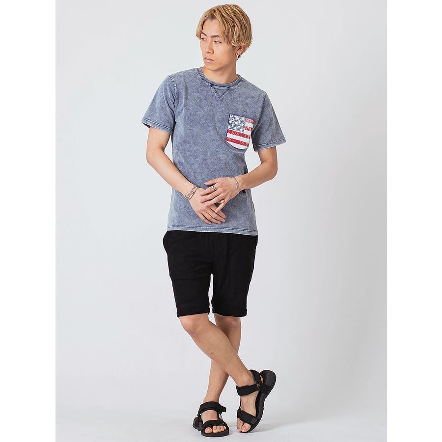 インディゴ染ポケ付きTシャツ 6