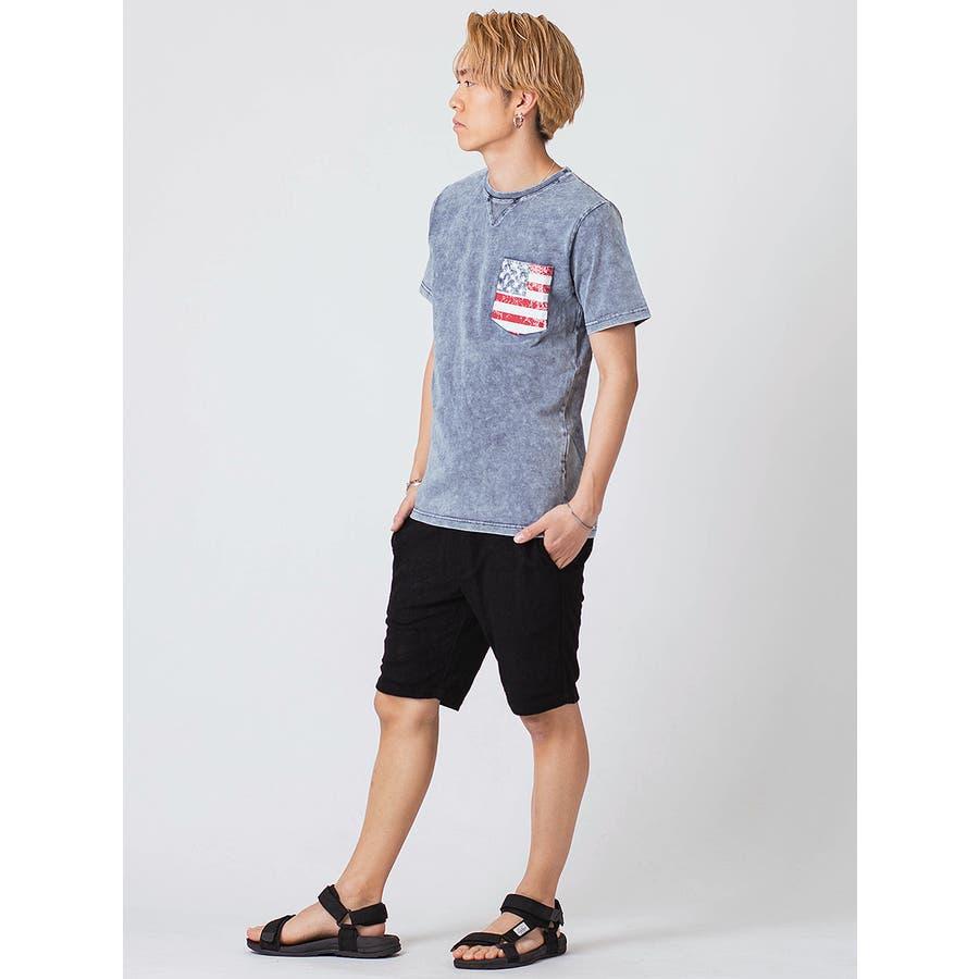 インディゴ染ポケ付きTシャツ 8