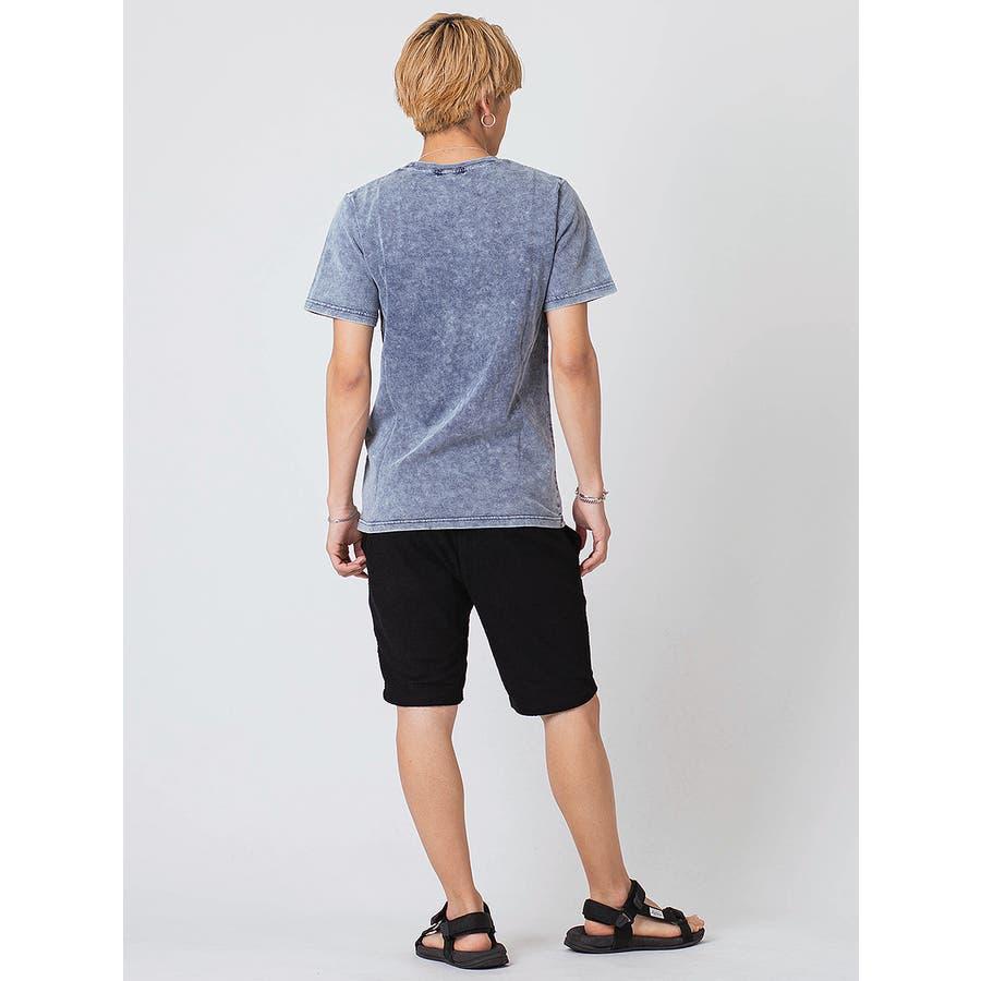 インディゴ染ポケ付きTシャツ 9