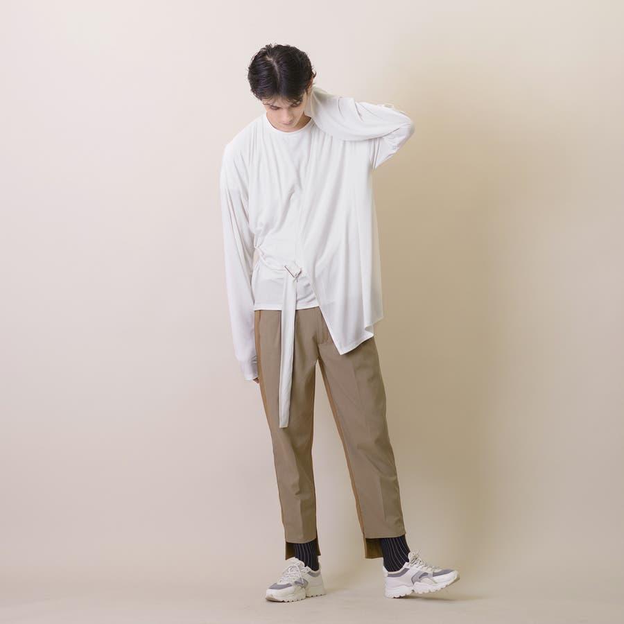 変型ロングスリーブTシャツ 3