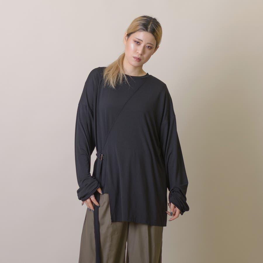 変型ロングスリーブTシャツ 8
