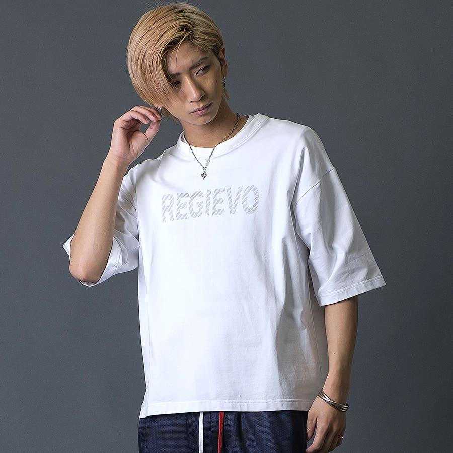 ブラシプリントビッグTシャツ 20
