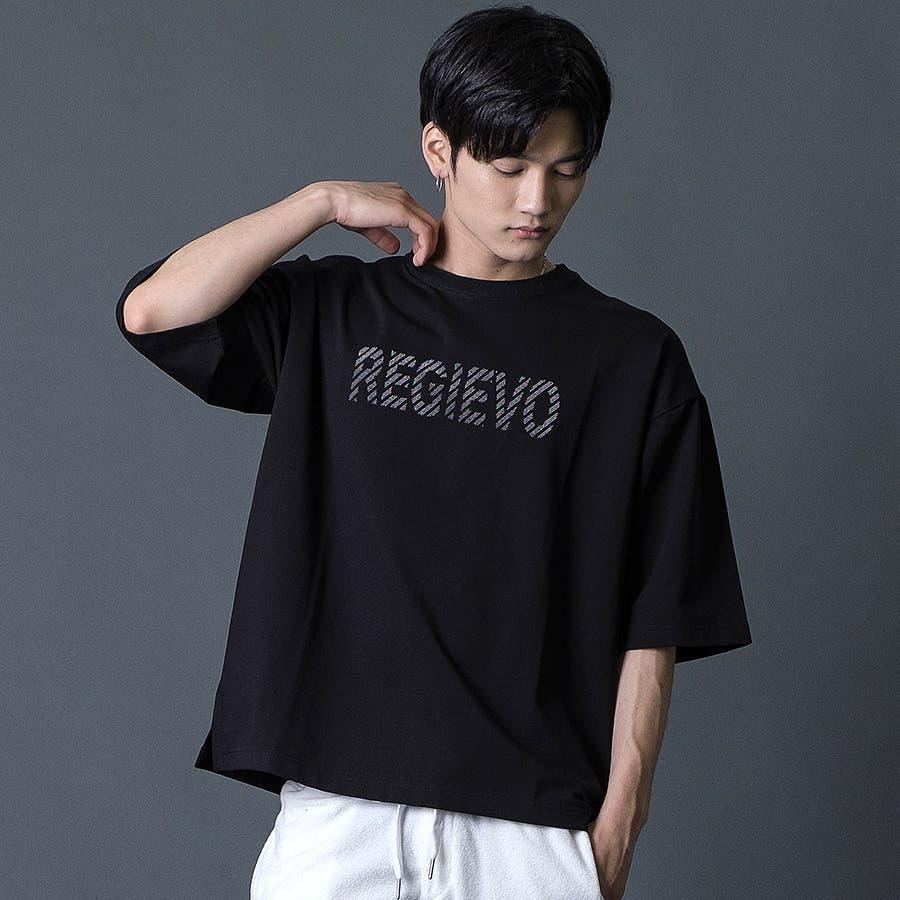 ブラシプリントビッグTシャツ 22