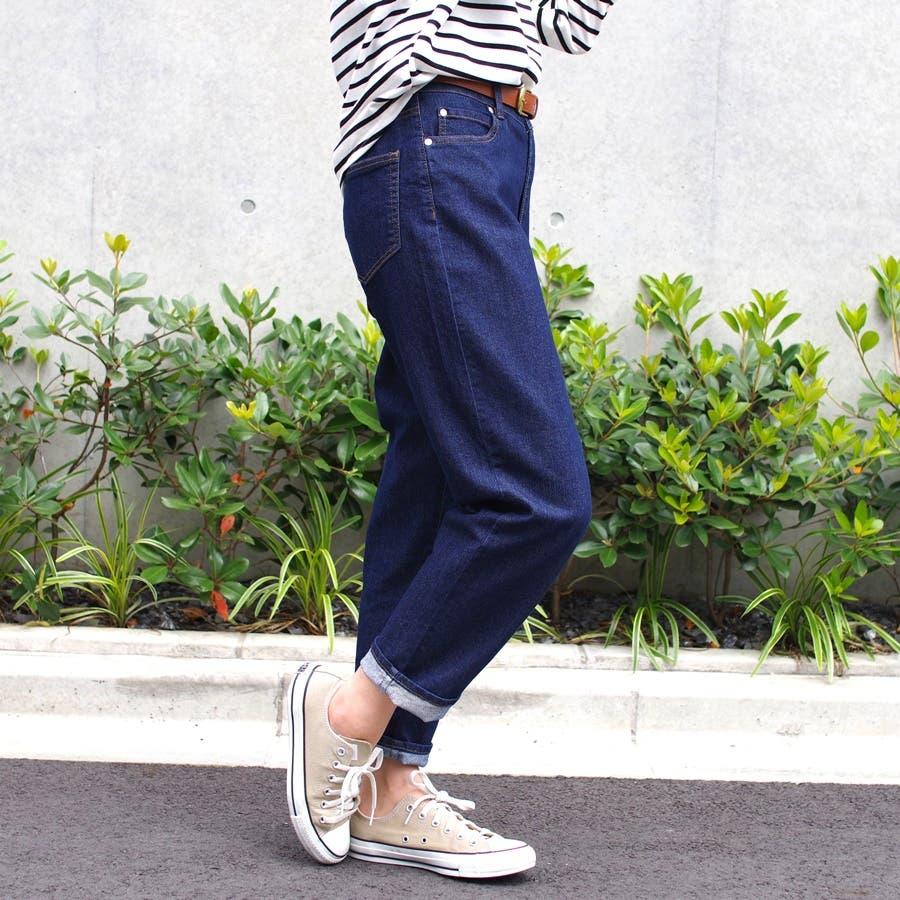 デニムパンツ ジーンズ Gパン レディース ファッション 春 夏 30代 20代 ゆったり ウエストゴム ボトム ストレッチテーパード 華奢見え プチプラ 5