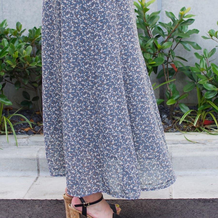 スカート ロングスカート マキシ レディース ファッション 花柄 小花柄 30代 20代 体型カバー マーメイド ウエストゴム裏地付き プチプラ 6