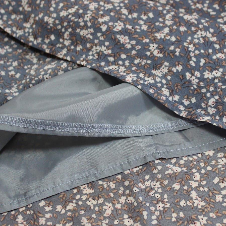 スカート ロングスカート マキシ レディース ファッション 花柄 小花柄 30代 20代 体型カバー マーメイド ウエストゴム裏地付き プチプラ 9