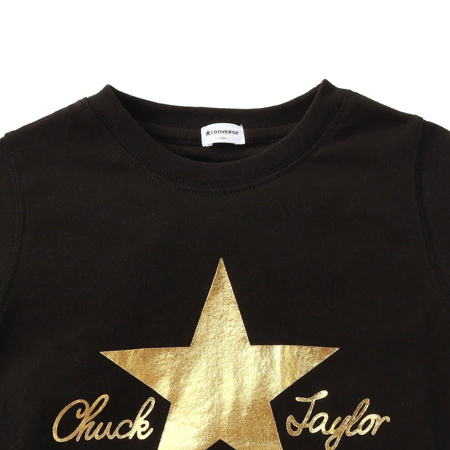 スター&ロゴ8分袖Tシャツ キッズ Right-on,ライトオン,7272-2396-49,CONVERSE,コンバース, 3