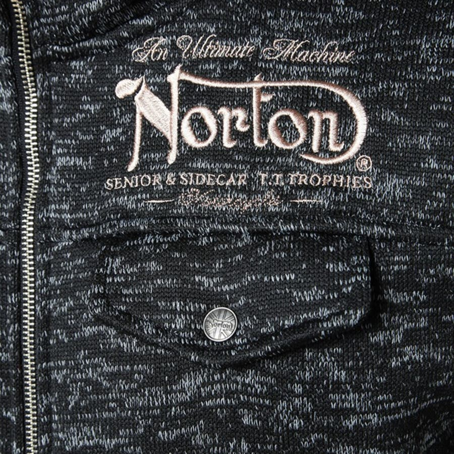ジップアップブルゾン メンズ Right-on,ライトオン,63N1308,Norton,ノートン,トレーナー 9