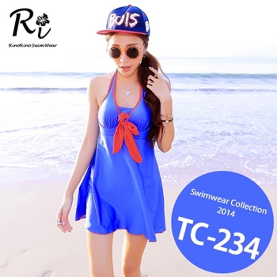 これぞ探してたデザイン TC-234 SwimwearCollectionレディース水着 女性用水着 大きいサイズあり 体型カバー タンキニ セパレート ワンピース 誤称