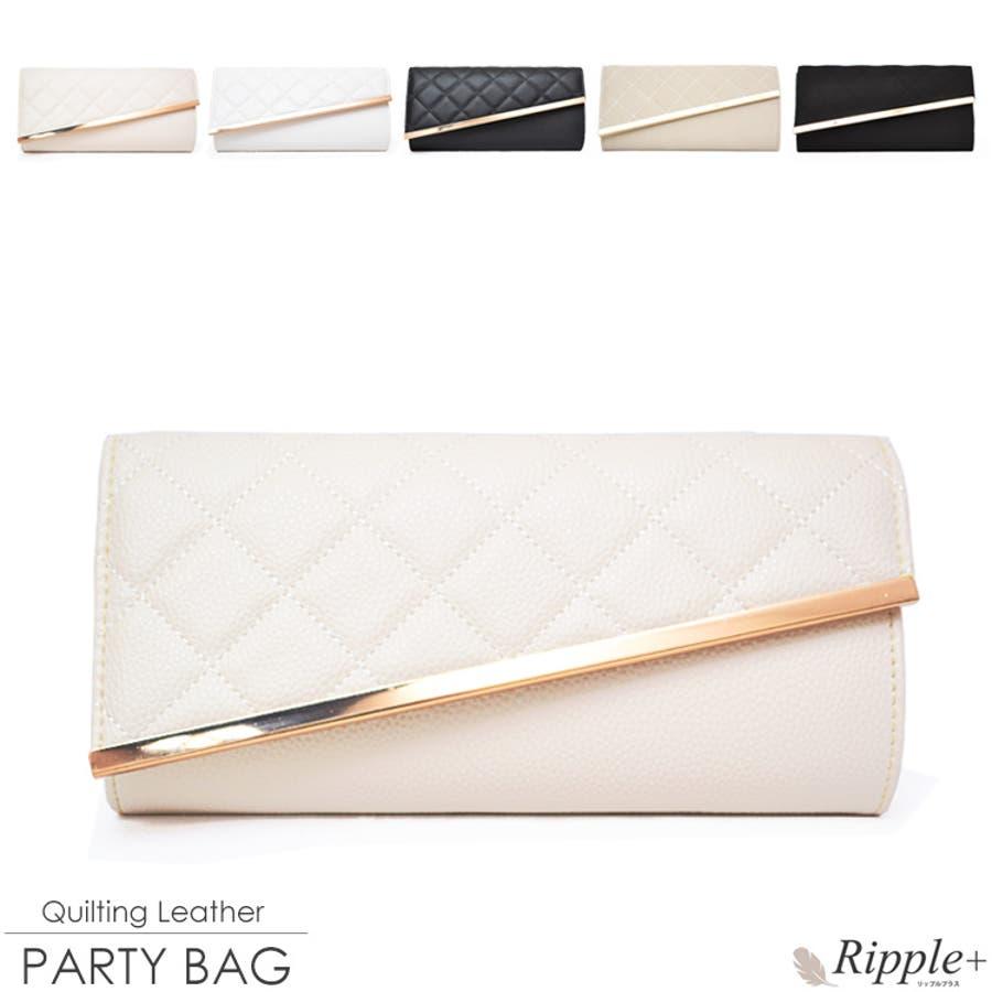 610e0bf6ea7e パーティーバッグ キルティングレザー2Wayパーティーバッグ 結婚式 クラッチ 大きめ バッグパーティーバックパーティバッグ